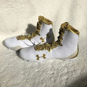 Under Armour Highlight Lacrosse Cleats LAX Gold